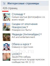 Фейк страница ВК