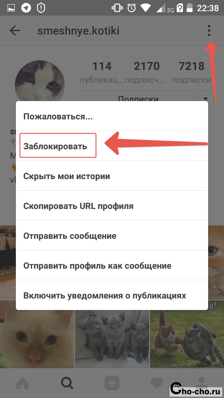 как разблокировать пользователя в инстаграме с айфона