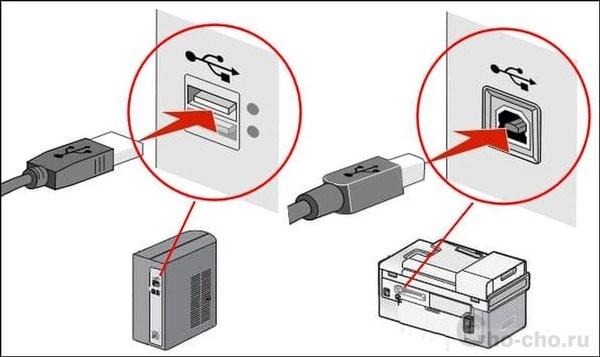 как подключить принтер к компьютеру через кабель